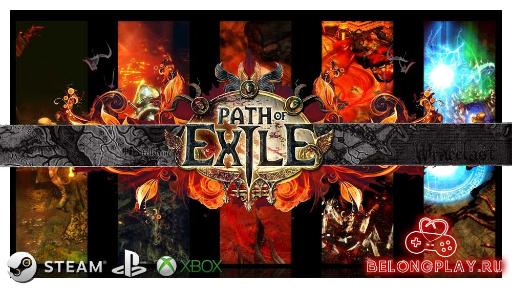 Path Of Exile logo art wallpaper