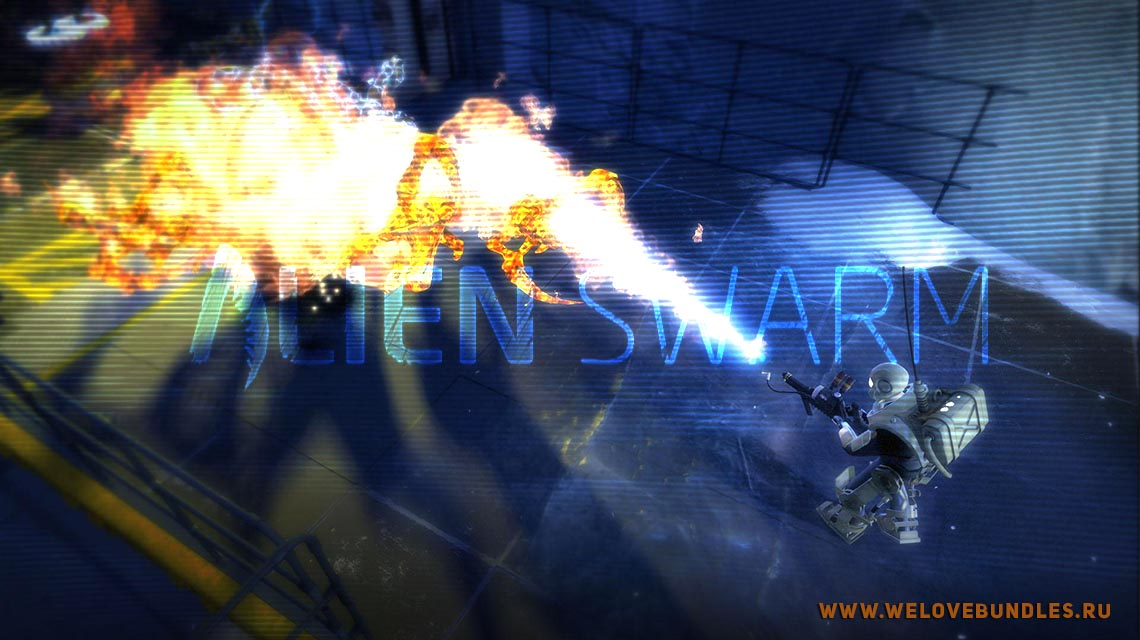alienswarn game art logo