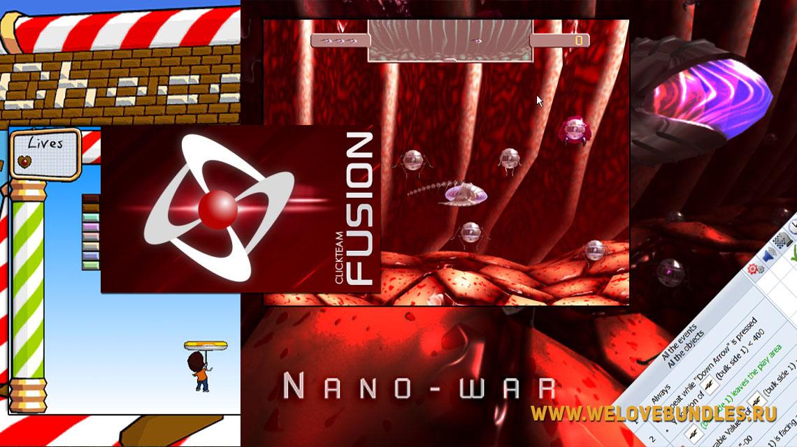 click fusion game art logo