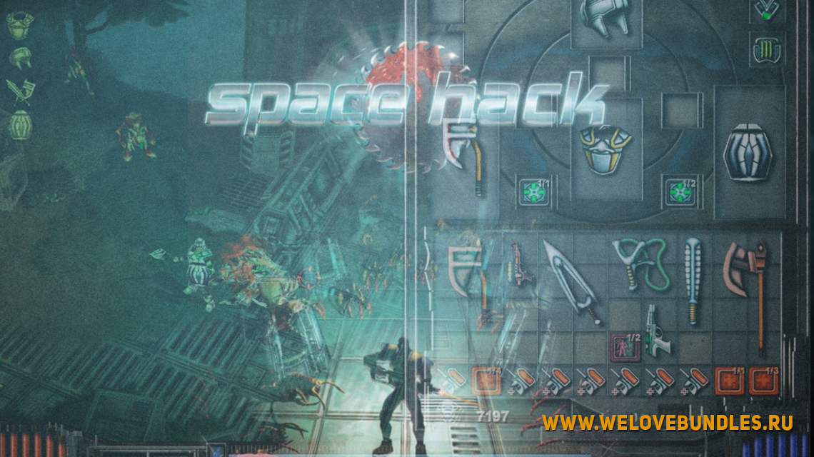 spacehack free steam game art logo