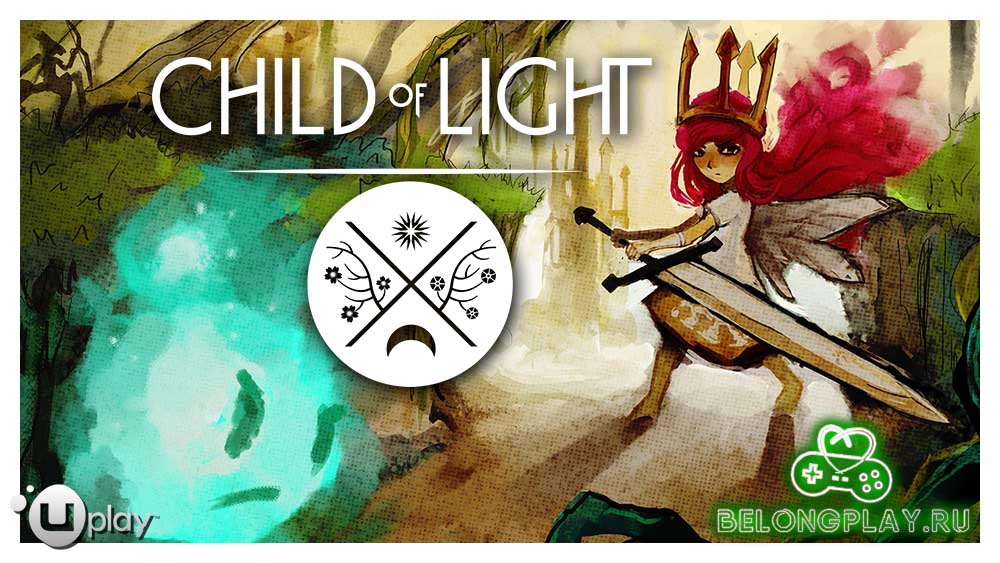 Child of Light art logo wallpaper