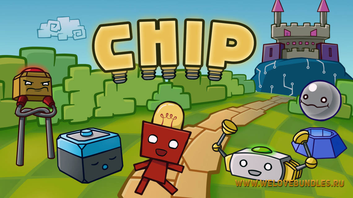 free steam chip game art logo
