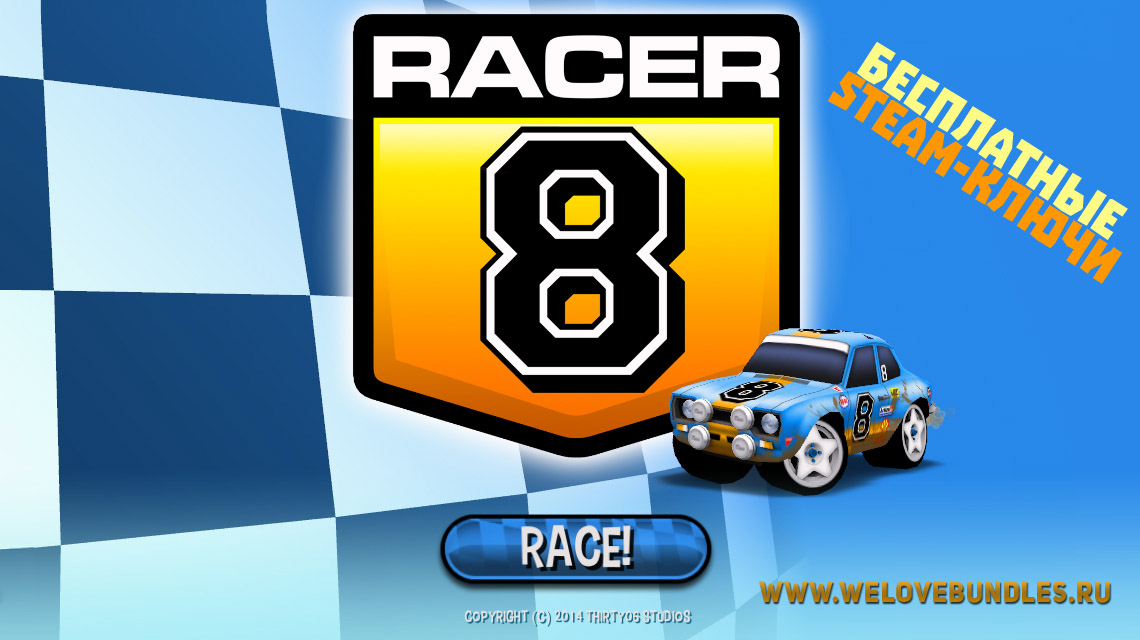 free steam racer8 game art logo