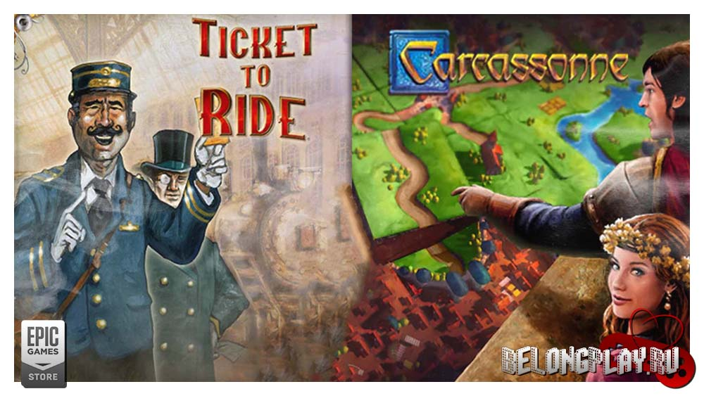 Carcassonne video game Ticket to ride