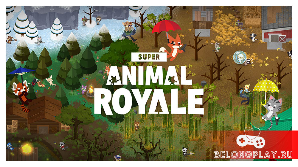 Super Animal Royale wallpaper art logo