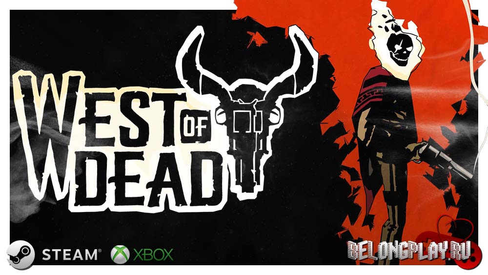 West of Dead game art logo