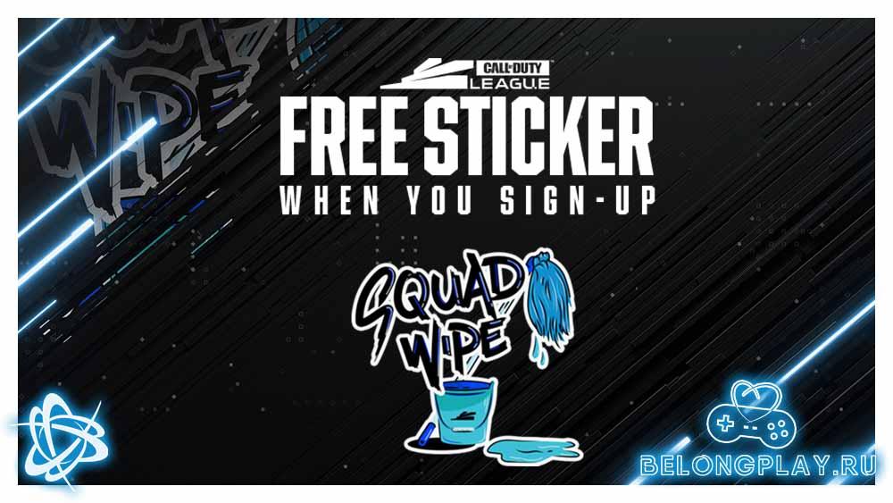 free sticker warzone