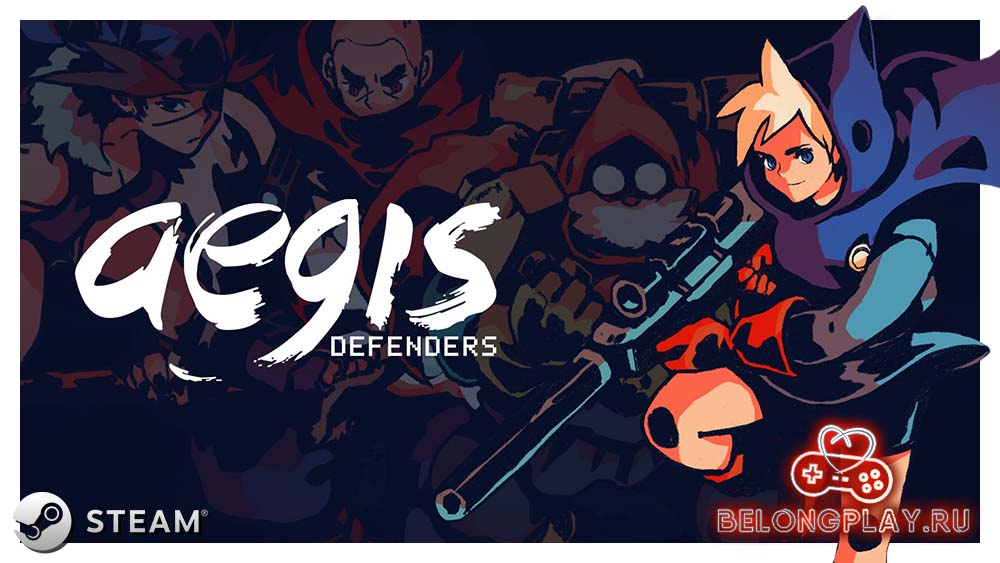 Aegis Defenders game logo art wallpaper