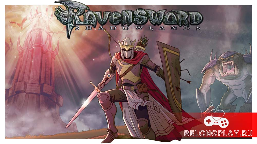 Ravensword Shadowlands game art logo