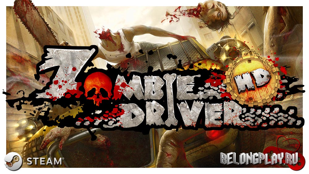 Zombie Driver HD logo art wallpaper
