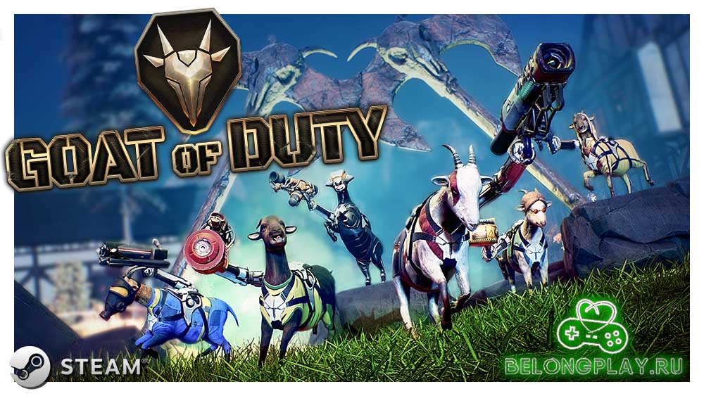 GOAT OF DUTY game art logo