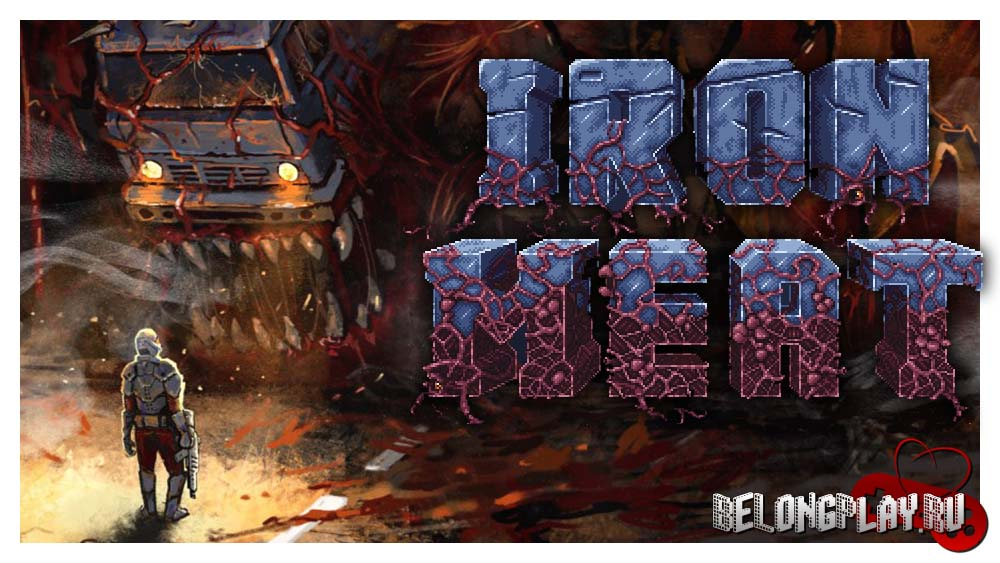 Iron Meat game logo art