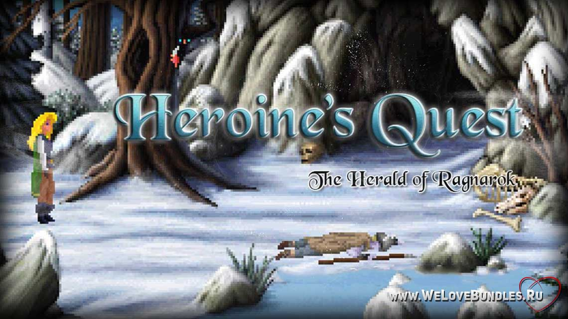 Heroines Quest game art logo