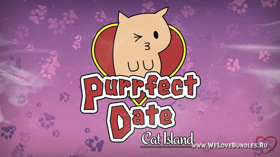 Purrfect Date game art logo