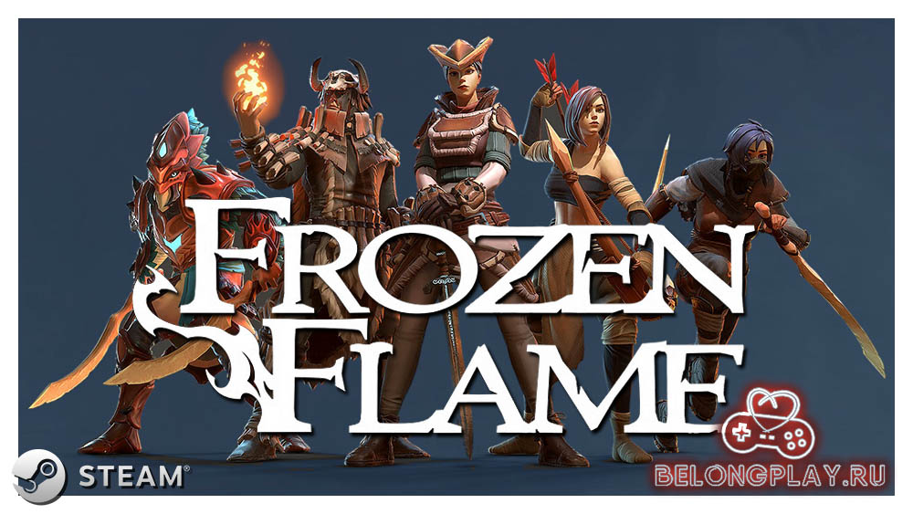 frozen flame game art logo