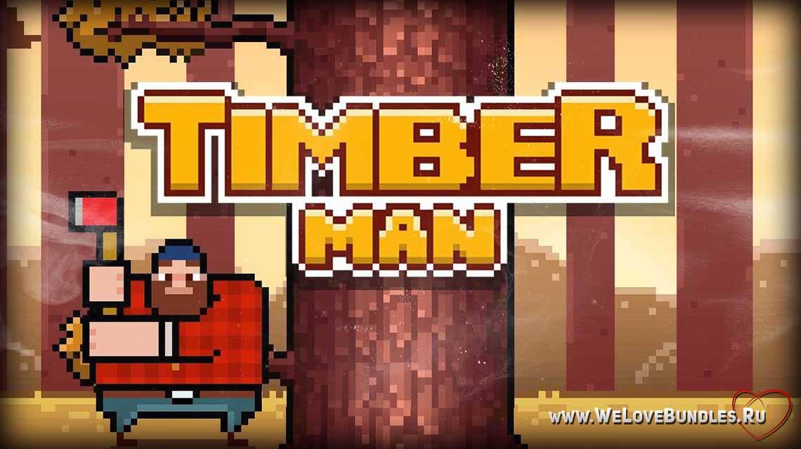 timberman game art logo