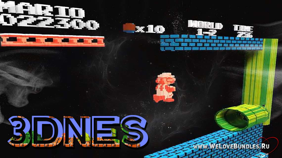 3DNES game art logo