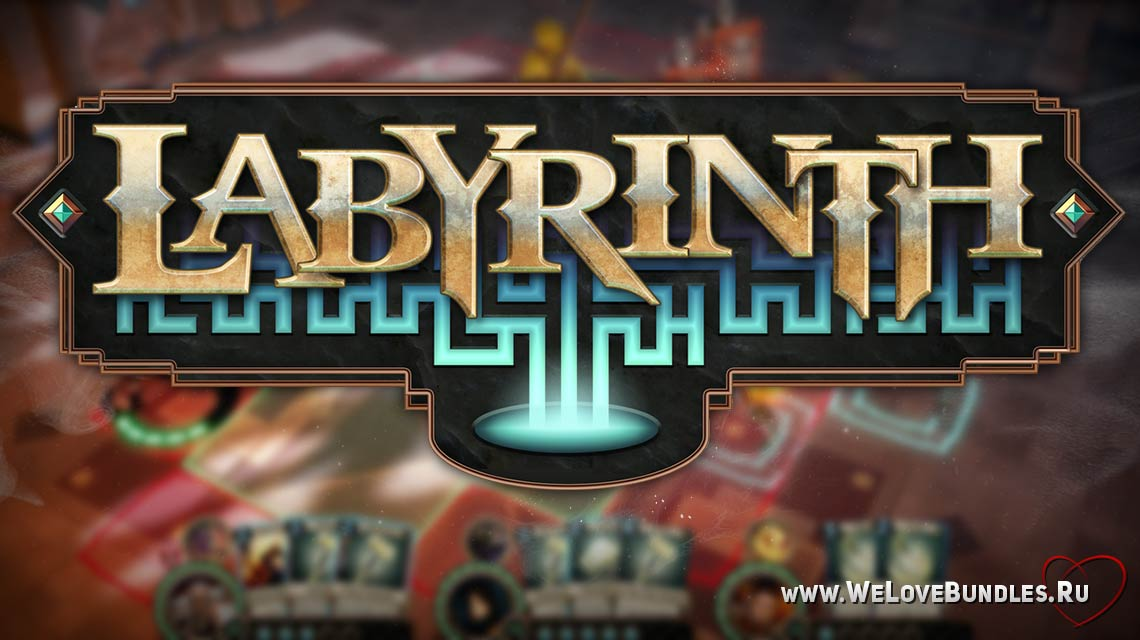 Labyrinth game art logo