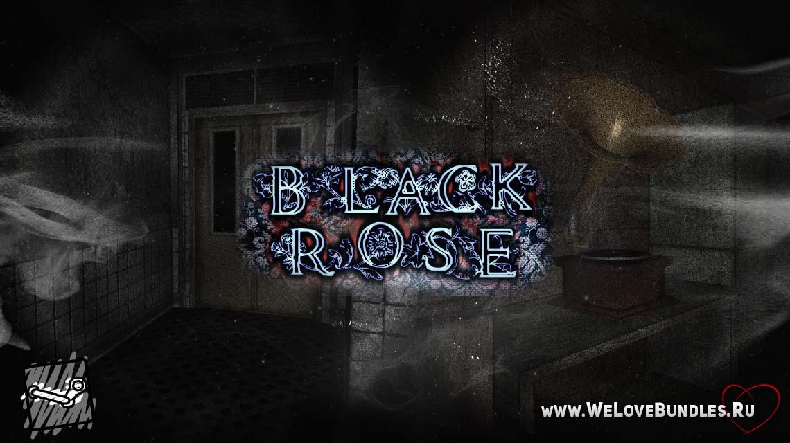 black rose game game art logo
