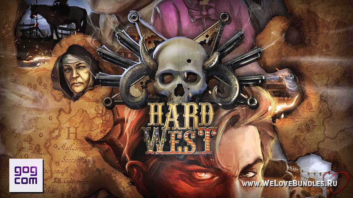 hard west game art logo