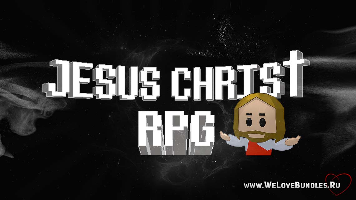 jesus christ rpg game art logo