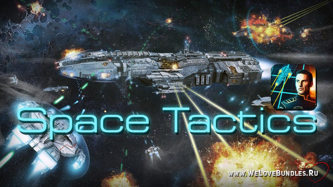space tactics game art logo