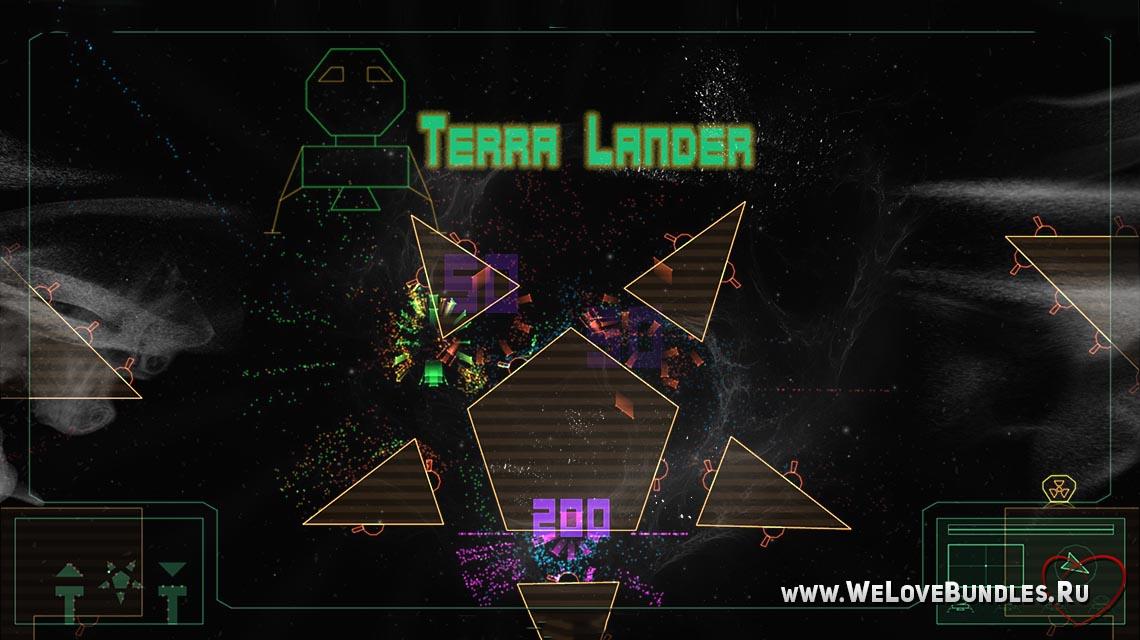 terra lander game art logo