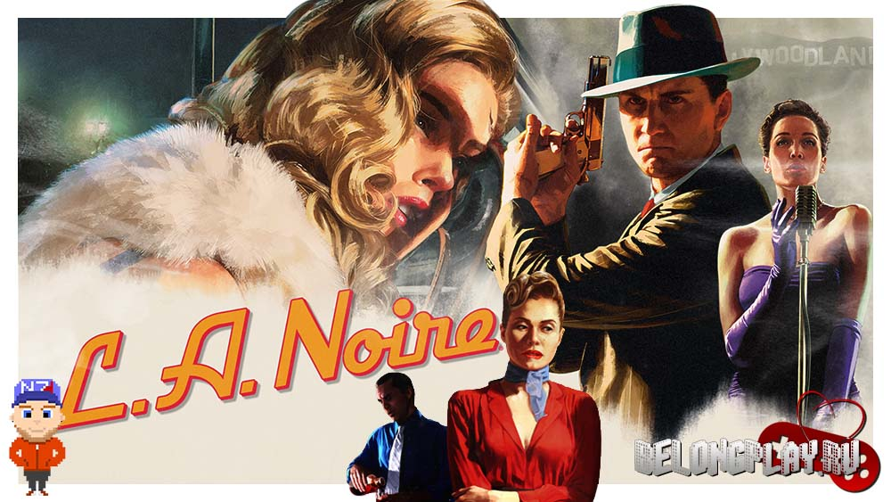 L.A. Noire art logo wallpaper