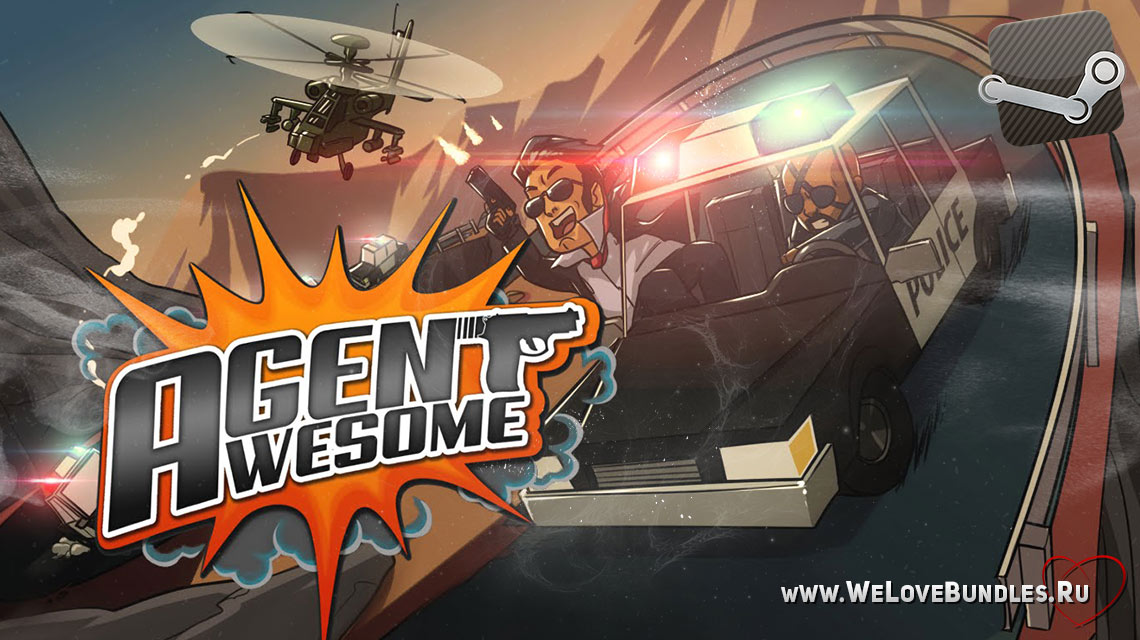 agent awesome game art logo