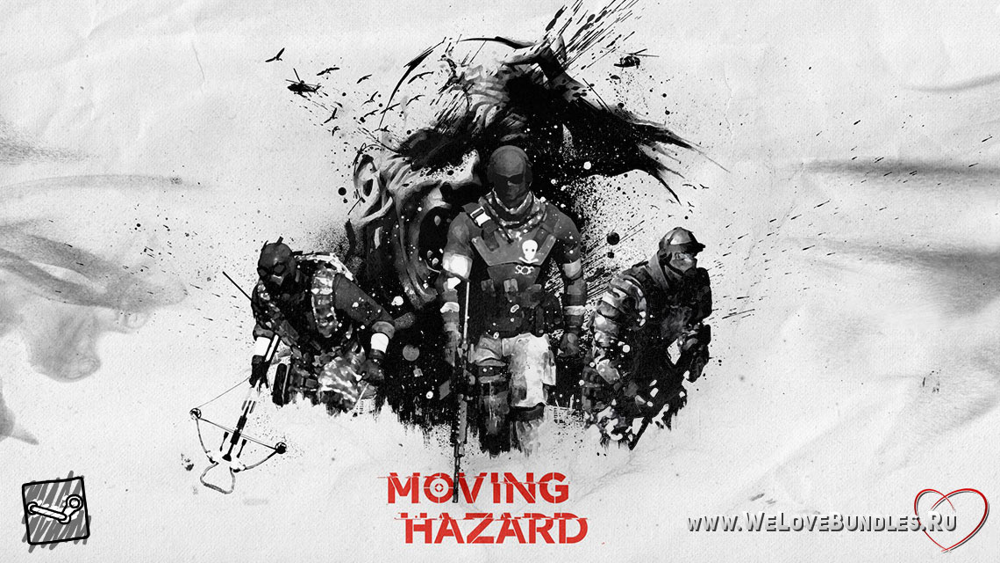 moving hazard game art logo