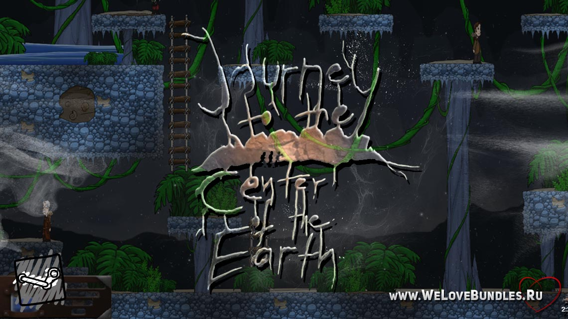 Journey to the Center of the Earth game art logo