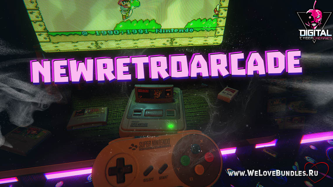 NewRetroArcade game art logo