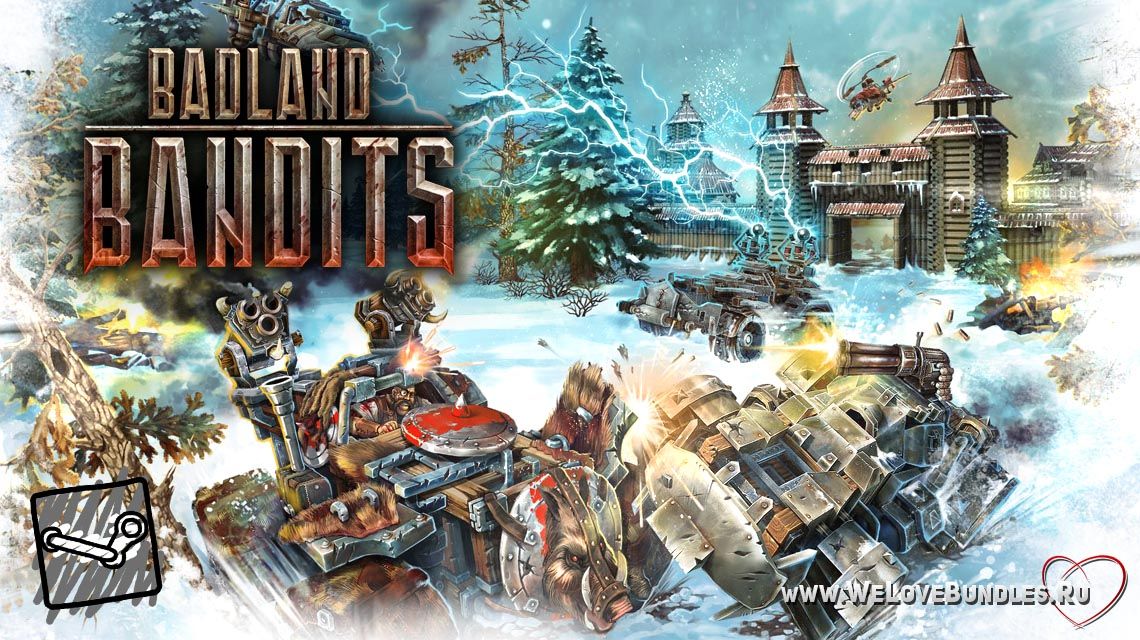 badland bandits game art logo