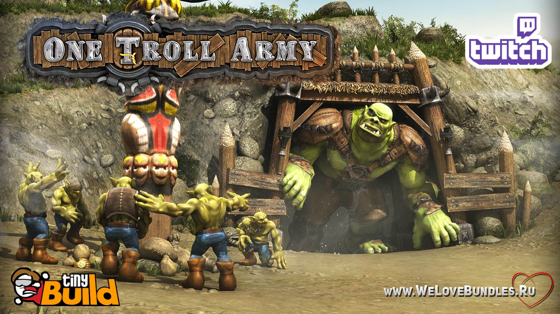 one troll army game art logo