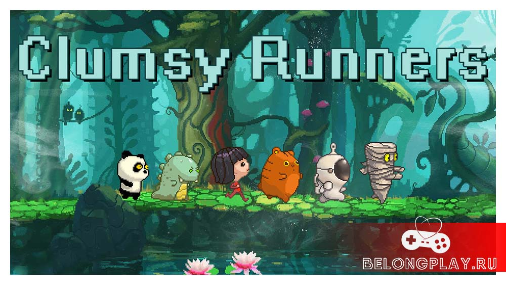 Clumsy Runners game art logo