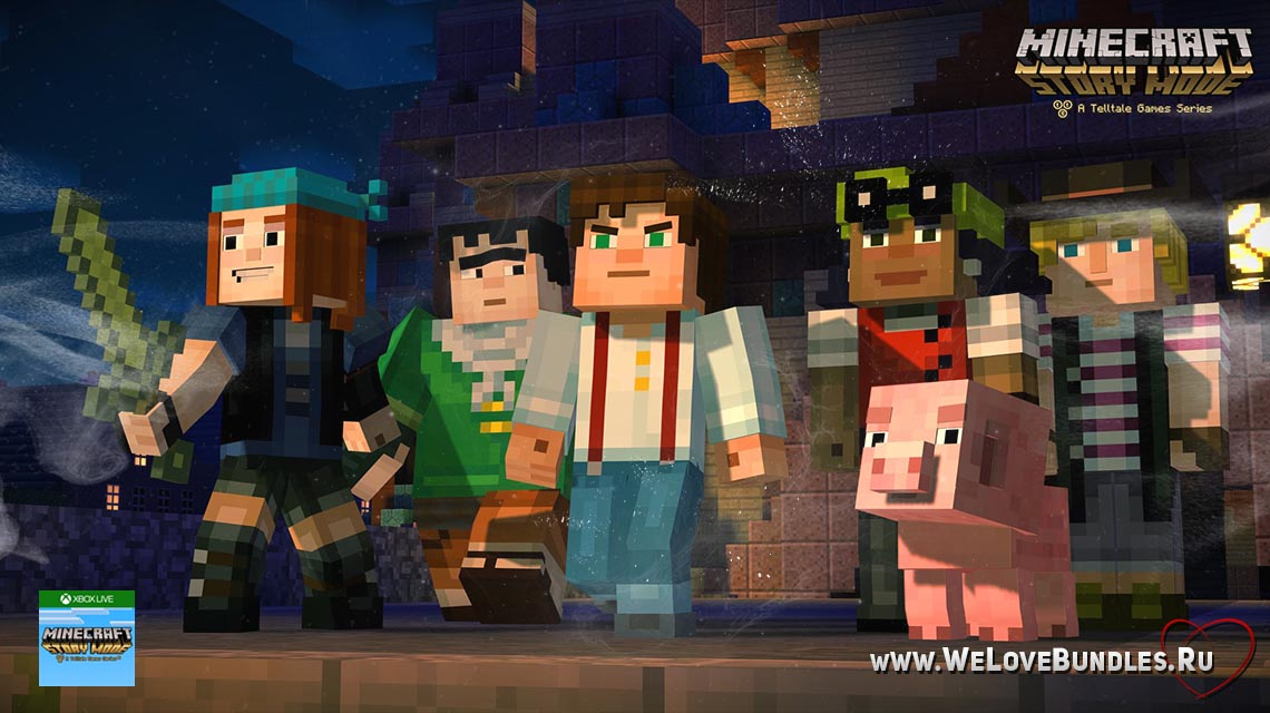 Minecraft Story Mode game art logo