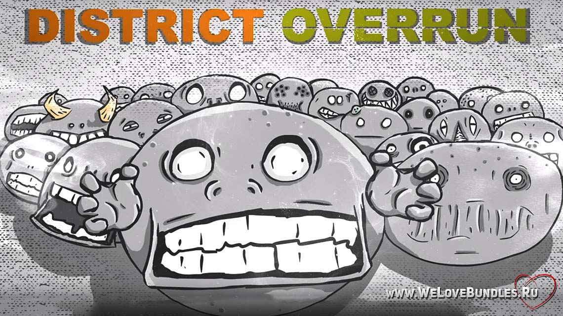 district overrun game art logo