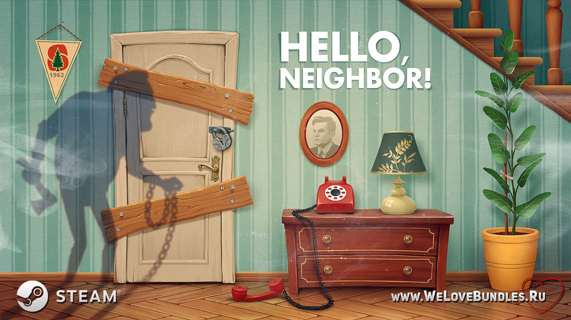 hello neighbor game art logo