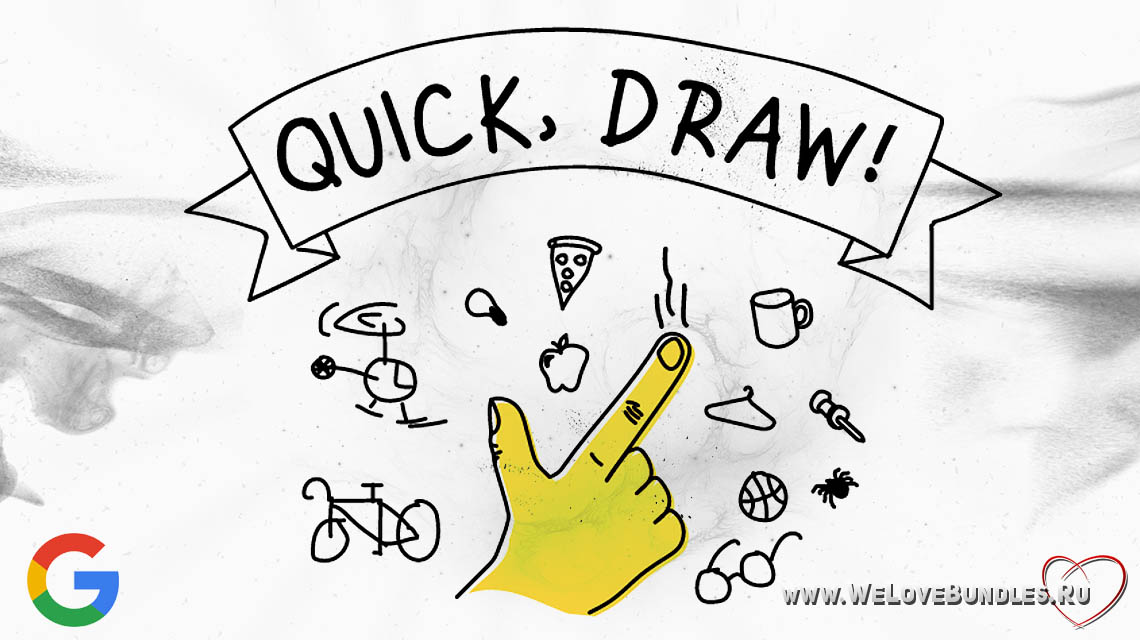 quick draw game art logo