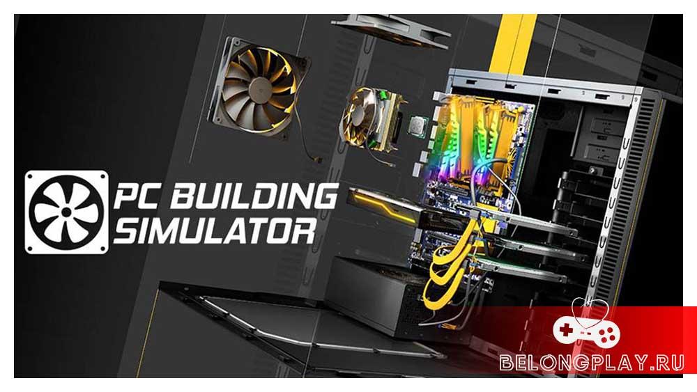 PC Building Simulator logo art wallpaper