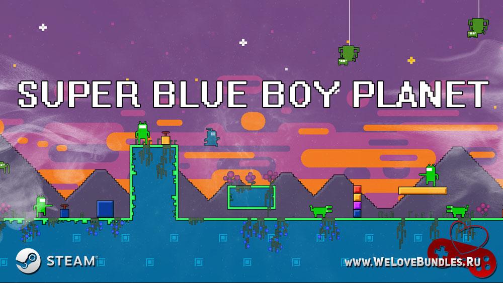 Super Blue Boy Planet game art logo