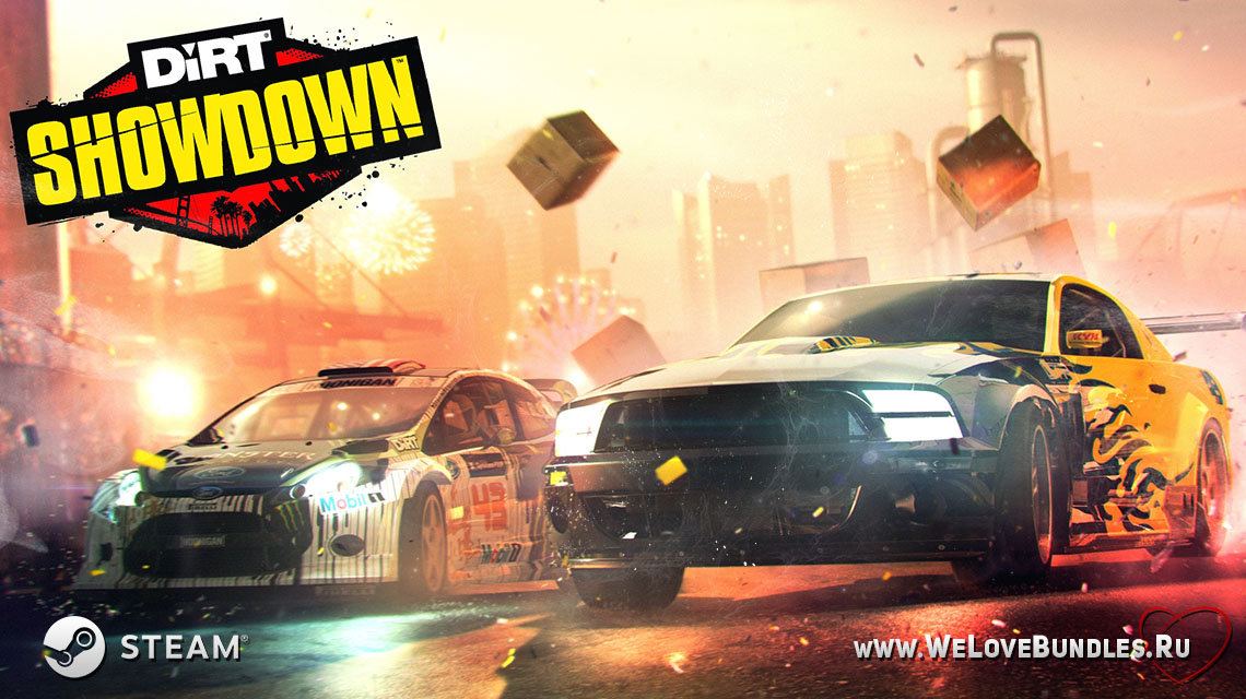 dirt showdown game art logo