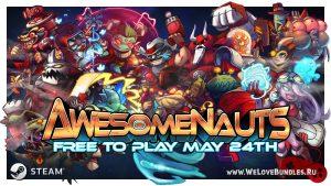 Игра Awesomenauts станет бесплатной в Steam