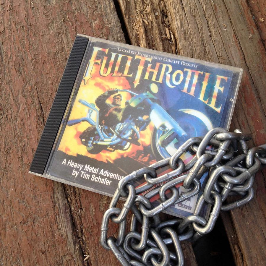 Full Throttle CD game art logo