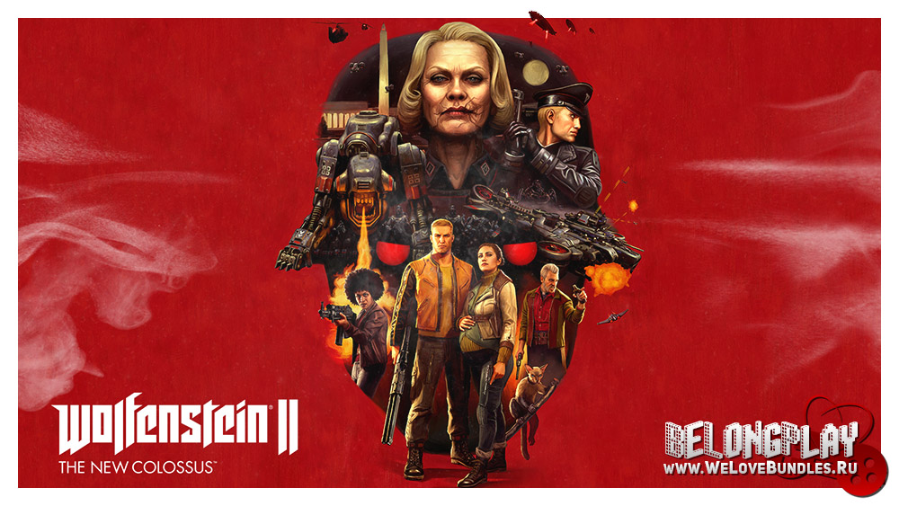 Wolfenstein II: The New Colossus logo art wallpaper