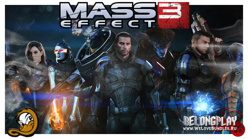 MASS EFFECT 3 logo wallpaper
