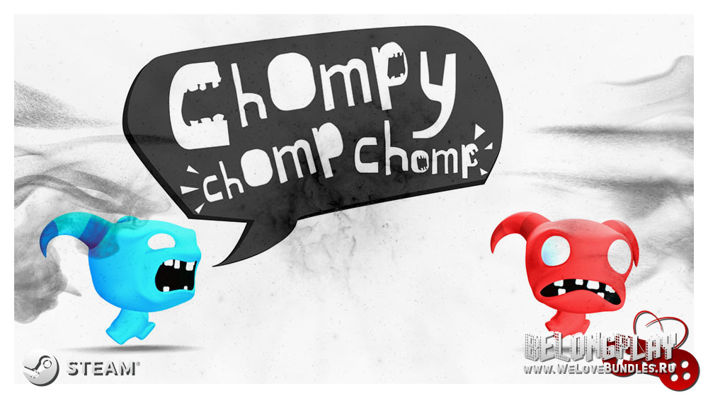Chompy Chomp Chomp logo wallpaper art