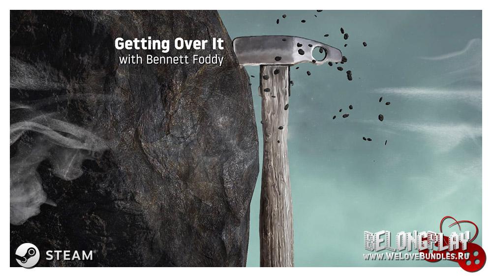 Getting Over It with Bennett Foddy Logo Art Wallpaper