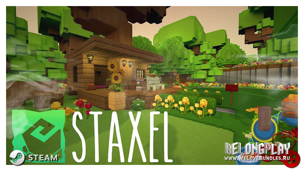 Staxel logo art wallpaper