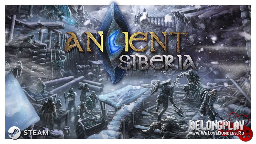 Ancient Siberia logo wallpaper art